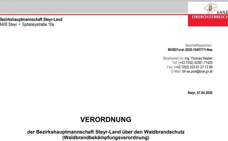 08.04.2020 Waldbrand Gefahr
